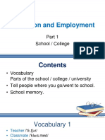Lesson-7 Education and Employment