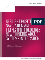 Resilient Positioning Navigation and Timing Thought Piece Presented by Booz Allen