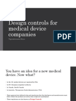Design controls for medical device companies