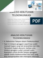 ANALISISIS TELEKOMUNIKASI
