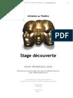 Initiation au Théâtre