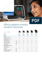 Philips Efficia Patient Monitor Options Sheet Jan 2015