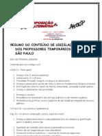 RESUMO DO CONTEÚDO DE LEGISLAÇÃO DA PROVA DOS PROFESSORES TEMPORÁRIOS DE SÃO