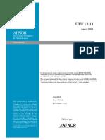 DTU 13.11_fondations Superficielles