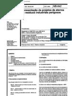 NBR 8418 NB 842 - Apresentacao de Projetos de Aterros de Residuos is Perigosos