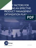 Five Key Factors for Creating an Effective Product Management Optimization Plan