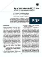 The Determination of Food Colours by HPLC With on-line Dialysis for Sample Preparation