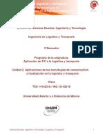 U2.Aplicaciones de Las TIC y Localizacion en La Logistica y Transporte