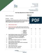 AOS Checklist - Spouse