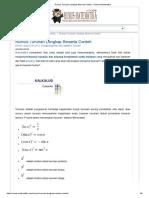 Rumus Turunan Lengkap Beserta Contoh - Rumus Matematika