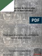 Les sources d'inspirations de la Stèle du Satrape