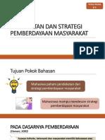 Bahan Pertemuan Ke 5 Strategi Pemberdayaan Masyarakat