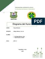 etograma del Huron