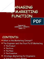 Managing the Marketing Function SHERWIN ESPIRITU