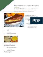 Torta Al Cioccolato Fondente Con Crema All Arancia