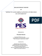 EFFECTS AND IMPLICATIONS OF E-BOOKS ON STUDENTS
