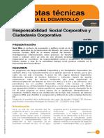 Responsabilidad Social Corporativa y Ciudadania Corporativa