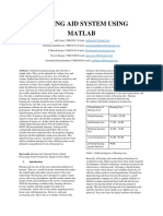 Hearing Aid System Using Matlab (1)