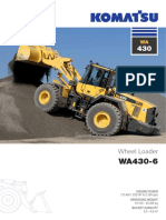 Komatsu WA430 6 Wheel Loader Specification