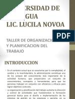 Induccion Taller de Organizacion y Planificacion Del Trabajo