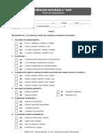 Teste Diagnóstico Ciências 6º ano