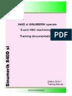 En 840D Sl 5-Axis Training Manual