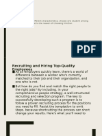 Recruit Qualified People
