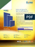 Genus Solar Panel