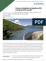 La Energía Hidroeléctrica Se Desplomó en España Un 49% Mientras El Carbón Creció Un 28,5% en 2017 _ Economía _ EL PAÍS