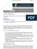 Agile Testing Strategies