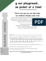 Fence Picket Order Form