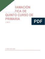 Programación Didáctica 5º 2019-20