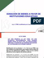 5.1 Donación de Bienes a Favor de Instituciones Educativas