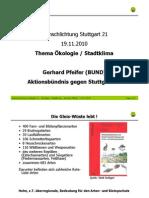 Stuttgart 21 Schlichtung - [5] 2010-11-19 - Gerhard Pfeifer Ökologie / Stadtklima