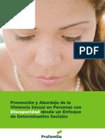 Prevencion y Abordaje de La Violencia Sexual en Personas Con Discapacidad Desde Un Enfoque de Determinantes Sociales
