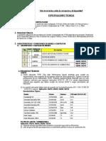 especificaiones tecnicas aceite