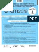 Prova ENEM 1 Dia Escaneada Caderno Azul Reduzido