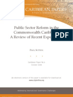 6. Public Sector Reform in the Commonwealth Caribbean