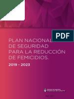 Plan Nacional Reducción Femicidios