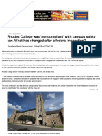 Rhodes College was 'noncompliant' with campus safety law. What has changed after a federal inspection?