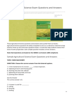 Free Agricultural Science Exam Questions and Answers for JSS3