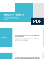 research portfolio guidance
