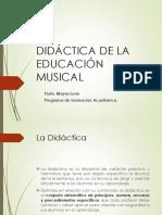 Didáctica de la educación musical