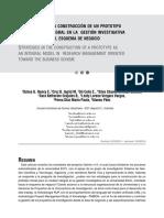 Estrategias en La Construcción de Un Prototipo Como Modelo Integral en La Gestión Investigativa Orientado Hacia El Esquema de Negocio