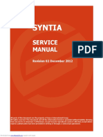 Saeco Syntia service manual