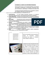 Herramientas Tecnológicas y Su Aporte a Las Actividades Evaluativas