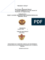 Major Project Report Format Unnnati