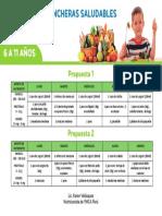 Lonchera Saludables - Primaria - 6 a 11 Años