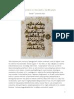 Islam and Jurisprudence a Basic Bibliogr