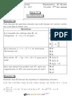 Série d'exercices N°1 - Math - Problèmes du premier degré à une ou deux ou trois inconnues - Les pourcentagess - 2ème Economie & Services (2016-2017) Mr Zantour Hamdi